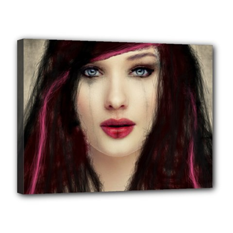 Beautiful Mess 12  X 16  Framed Canvas Print