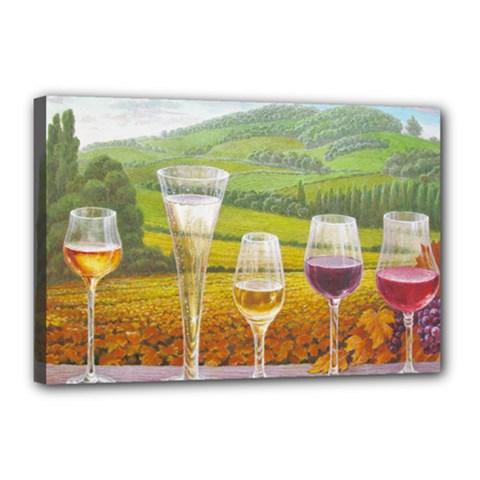vine 12  x 18  Framed Canvas Print
