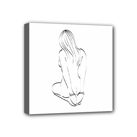 Bound Beauty 4  x 4  Framed Canvas Print
