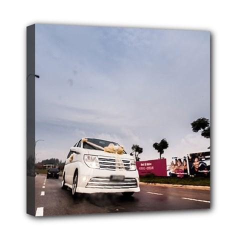 Wedding Car 8  x 8  Framed Canvas Print