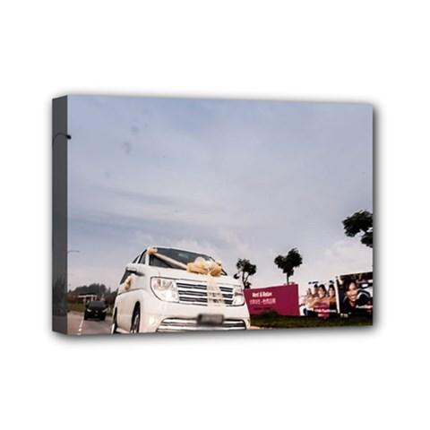 Wedding Car 5  X 7  Framed Canvas Print