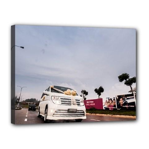 Wedding Car 12  x 16  Framed Canvas Print