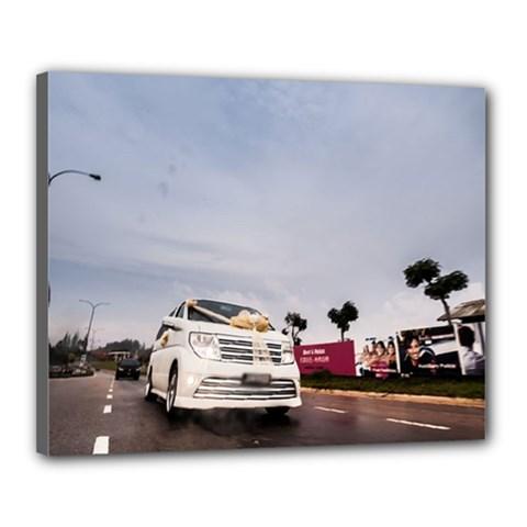 Wedding Car 16  x 20  Framed Canvas Print