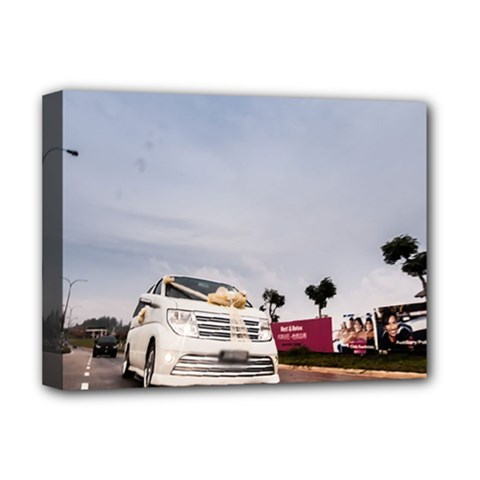Wedding Car Deluxe Canvas 16  x 12  (Stretched)