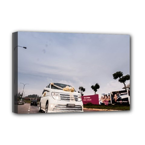 Wedding Car Deluxe Canvas 18  X 12  (stretched)