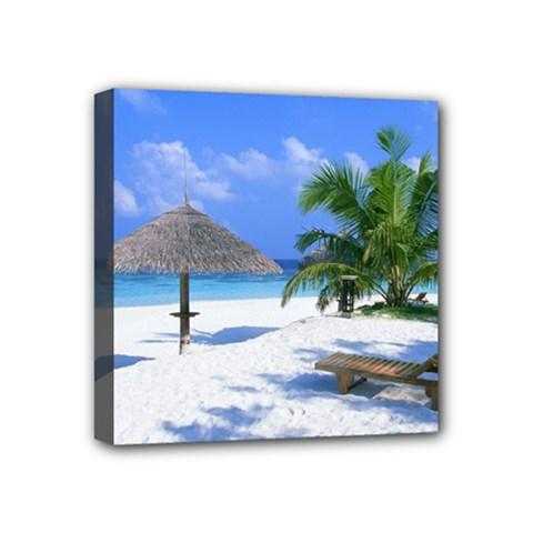 Beach 4  x 4  Framed Canvas Print