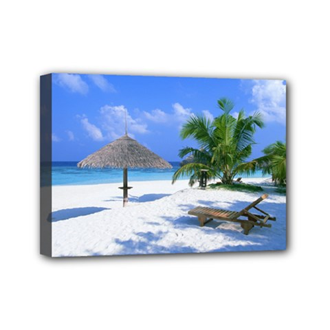 Beach 5  x 7  Framed Canvas Print