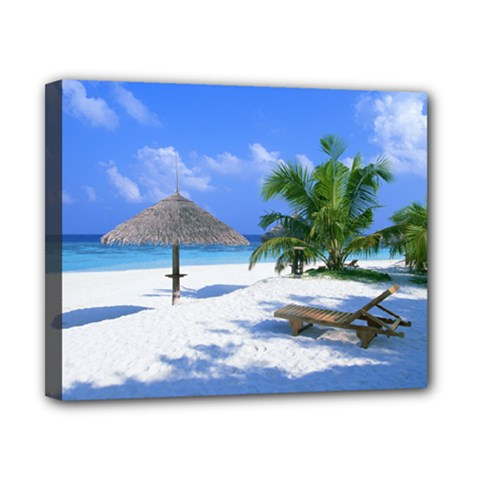 Beach 8  X 10  Framed Canvas Print