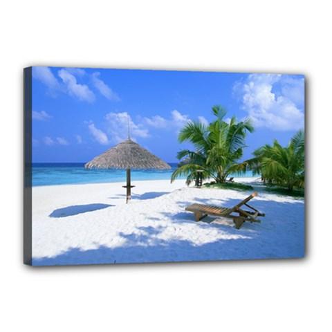 Beach 12  x 18  Framed Canvas Print