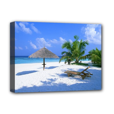 Beach Deluxe Canvas 16  x 12  (Stretched)