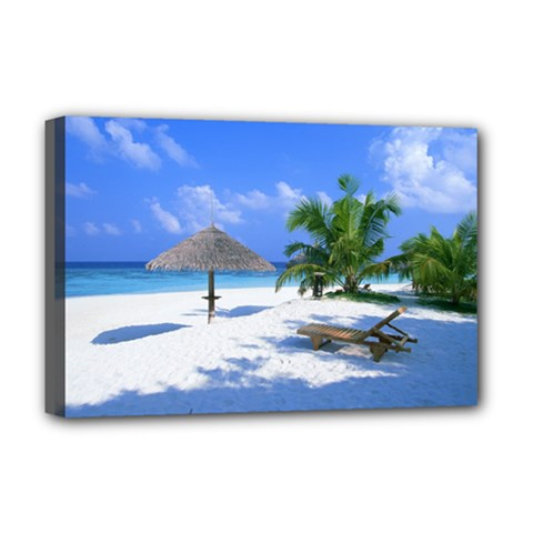 Beach Deluxe Canvas 18  x 12  (Stretched)