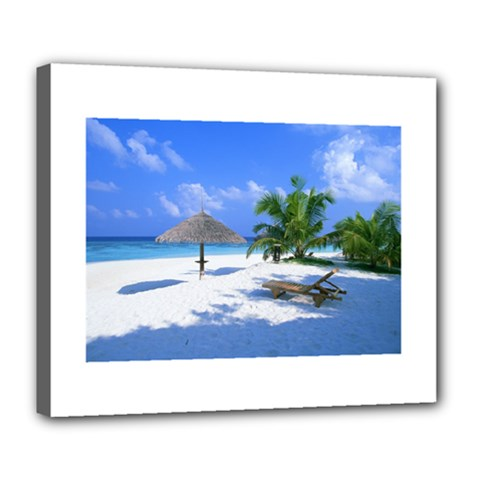 Beach Deluxe Canvas 24  X 20  (stretched)