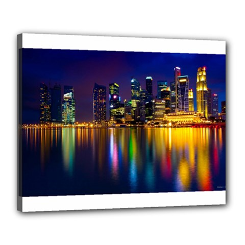 Night View 16  x 20  Framed Canvas Print