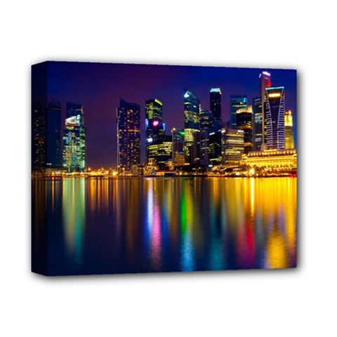 Night View Deluxe Canvas 14  X 11  (stretched)
