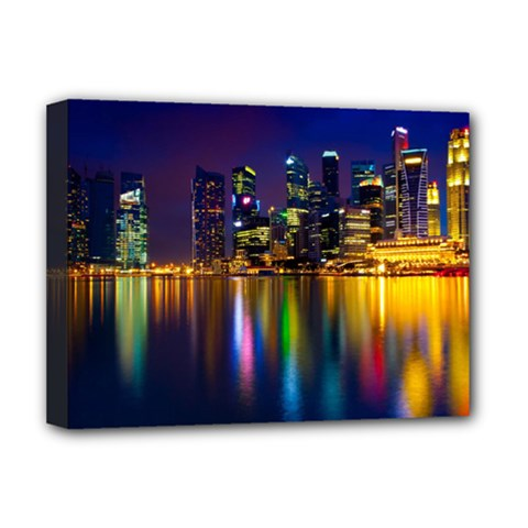 Night View Deluxe Canvas 16  x 12  (Stretched)