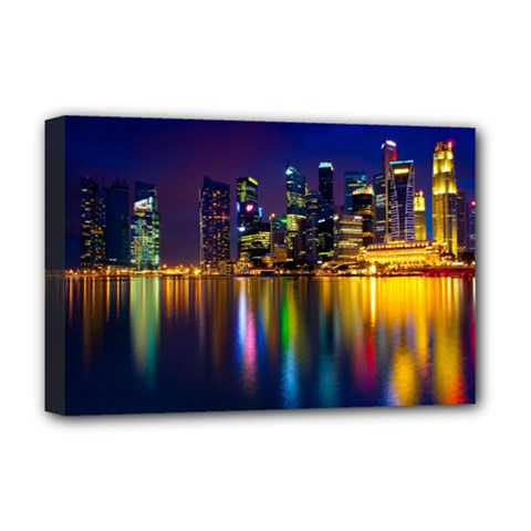 Night View Deluxe Canvas 18  x 12  (Stretched)