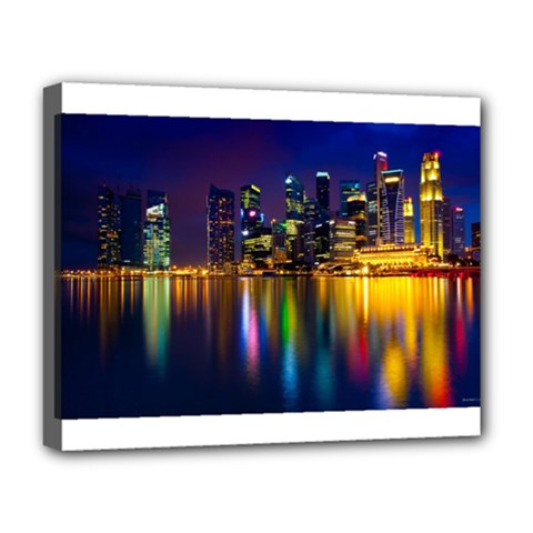 Night View Deluxe Canvas 20  x 16  (Stretched)
