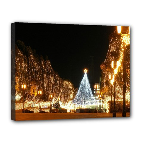 Christmas Deco 11  x 14  Framed Canvas Print