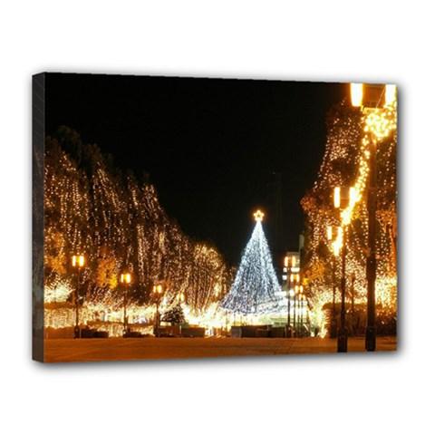 Christmas Deco 12  X 16  Framed Canvas Print