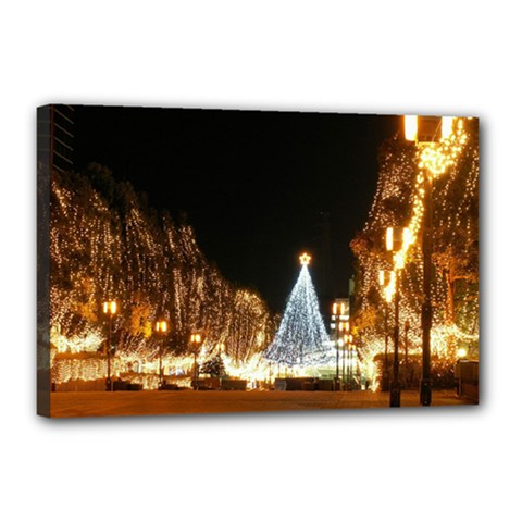 Christmas Deco 12  x 18  Framed Canvas Print