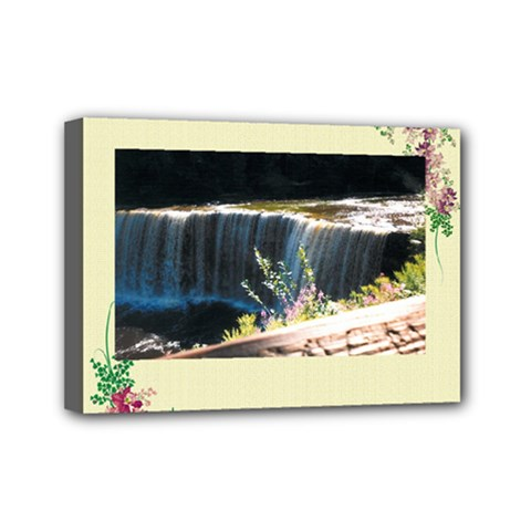 Waterfall 5  x 7  Framed Canvas Print