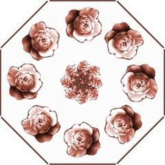 Burgundy Rose Bridesmaids Umbrella (Medium)