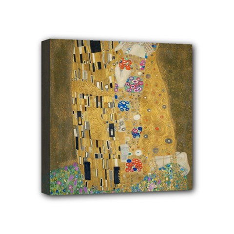 Klimt - The Kiss Mini Canvas 4  x 4  (Framed)