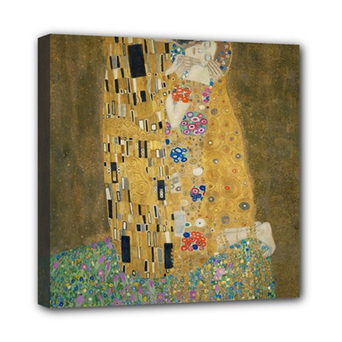 Klimt - The Kiss Mini Canvas 8  x 8  (Framed)