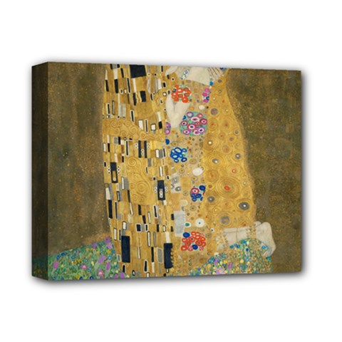 Klimt - The Kiss Deluxe Canvas 14  x 11  (Framed)
