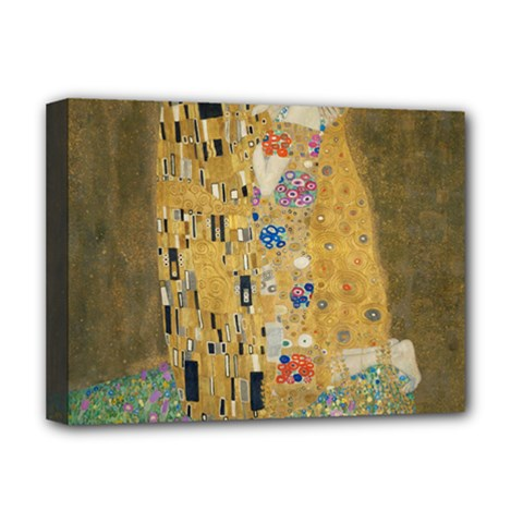 Klimt   The Kiss Deluxe Canvas 16  X 12  (framed)