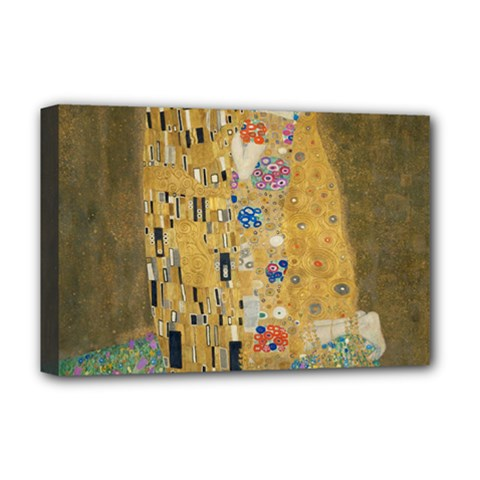 Klimt   The Kiss Deluxe Canvas 18  X 12  (framed)