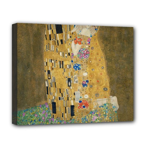 Klimt   The Kiss Deluxe Canvas 20  X 16  (framed)