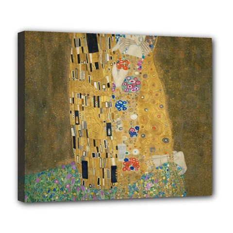Klimt - The Kiss Deluxe Canvas 24  x 20  (Framed)