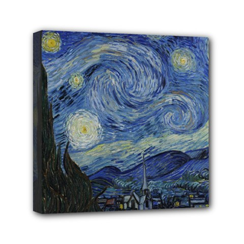 Starry night Mini Canvas 6  x 6  (Framed)