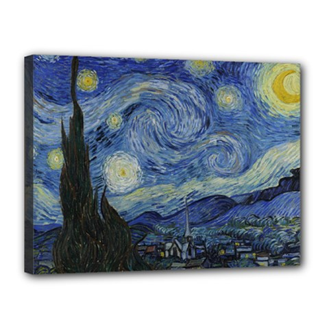 Starry night Canvas 16  x 12  (Framed)