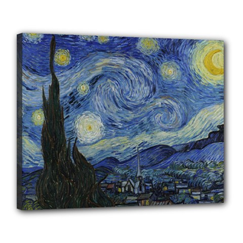 Starry Night Canvas 20  X 16  (framed)