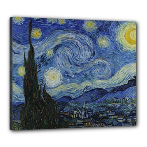 Starry night Canvas 24  x 20  (Framed)