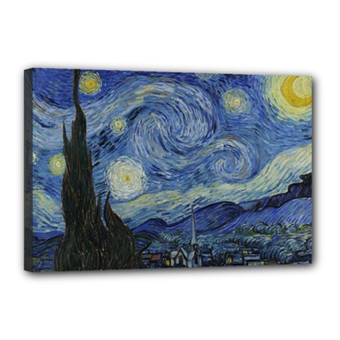 Starry night Canvas 18  x 12  (Framed)