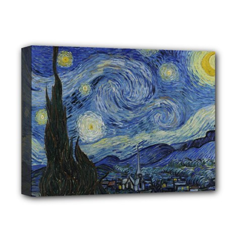 Starry night Deluxe Canvas 16  x 12  (Framed)