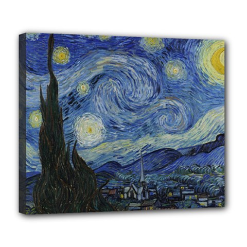 Starry Night Deluxe Canvas 24  X 20  (framed)