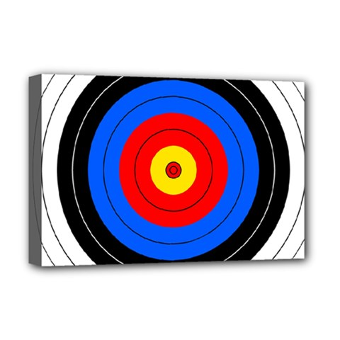 Target Deluxe Canvas 18  x 12  (Framed)