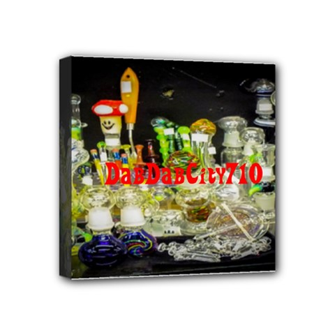 Dabdabcity710 Mini Canvas 4  X 4  (framed)