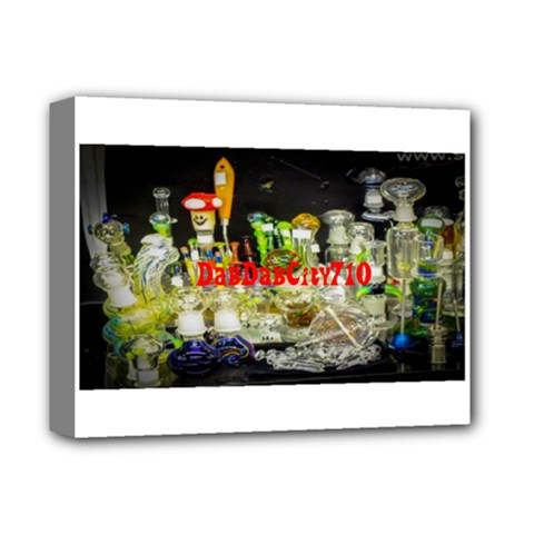 DabDabCity710 Deluxe Canvas 14  x 11  (Framed)