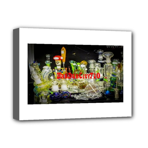 DabDabCity710 Deluxe Canvas 16  x 12  (Framed)