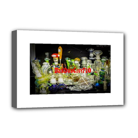 DabDabCity710 Deluxe Canvas 18  x 12  (Framed)