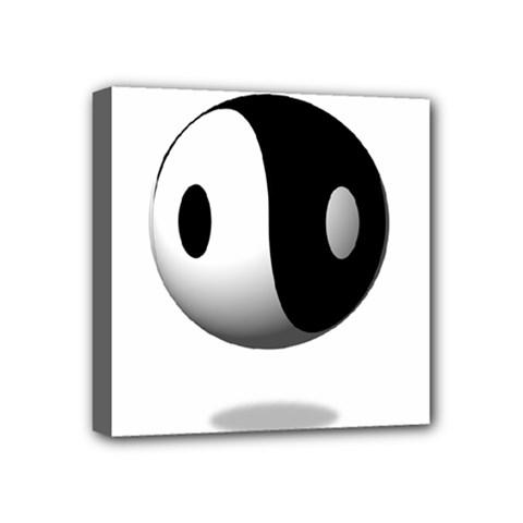 Yin Yang Mini Canvas 4  x 4  (Framed)