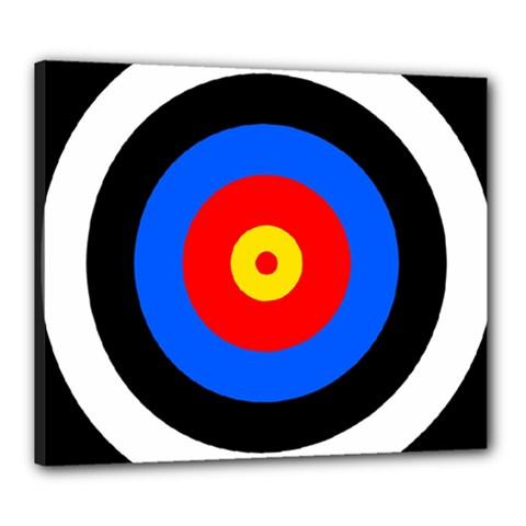 Target Canvas 24  X 20  (framed)