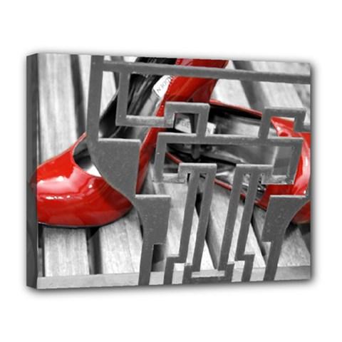 TT RED HEELS Canvas 14  x 11  (Framed)