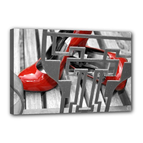 TT RED HEELS Canvas 18  x 12  (Framed)
