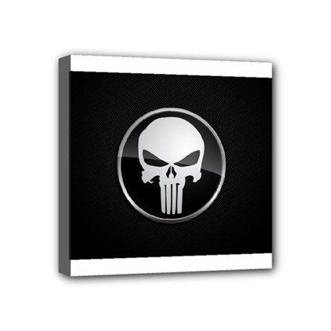 The Punisher Wallpaper  Mini Canvas 4  x 4  (Framed)